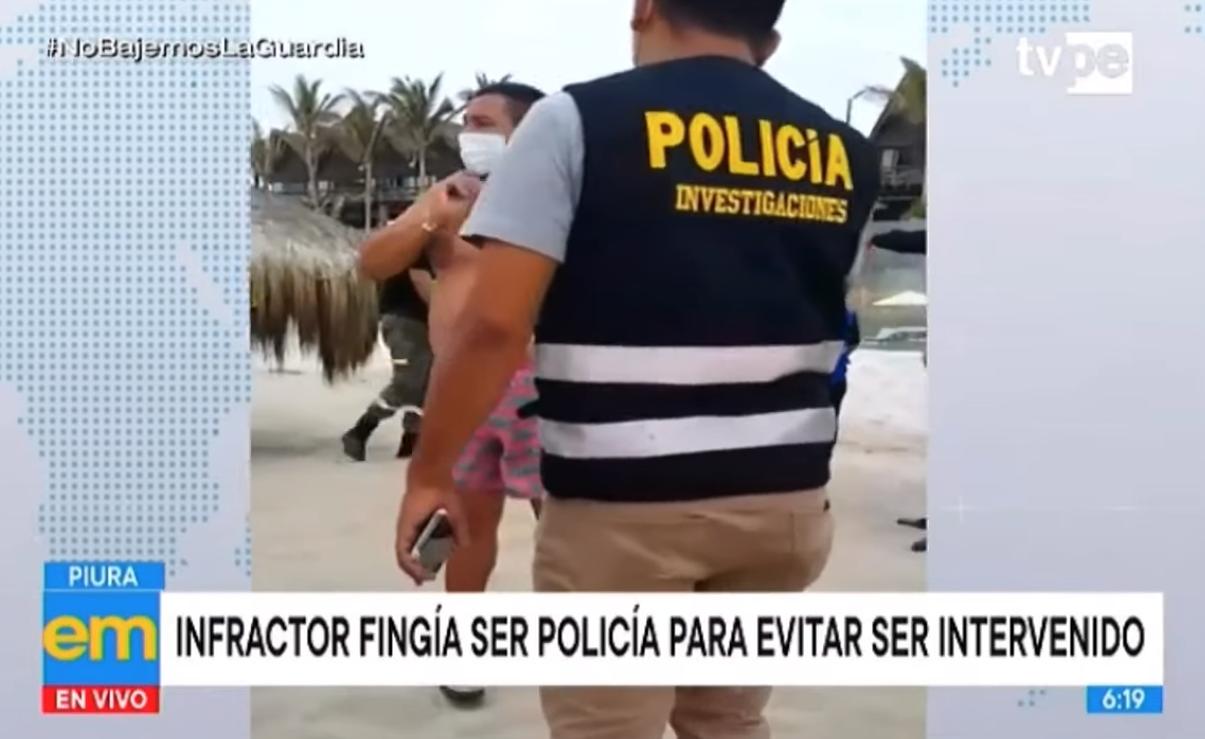 Piura: infractor fingía ser policía para evitar ser intervenido