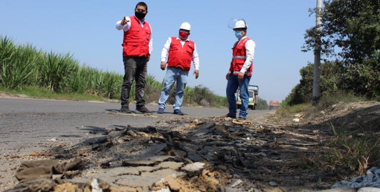 Descubren prejuicio por construcción de carretera en Ascope